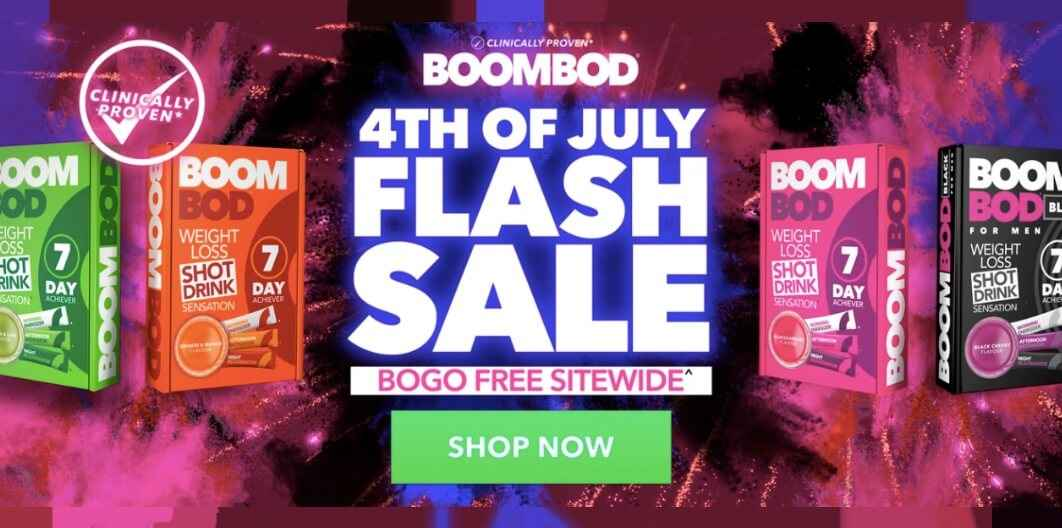 BoomBod 4th July Sale